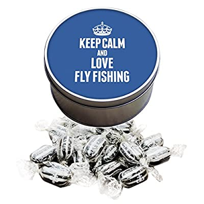 BLUE Keep Calm and Love Fly Fishing Everton Mints Sweet Tin 1746 from Duke Gifts