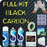 Kit de Hidroimpresión Carbono Black Completo - Efecto Carbono con Técnica de Water Transfer Printing. no Incluye Mascarilla Temporalmente