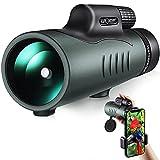 K&F Concept Telescopio Monoculare 12*50,HD BAK4 Monocolo Professionale Impermeabile IP68 con Clip...