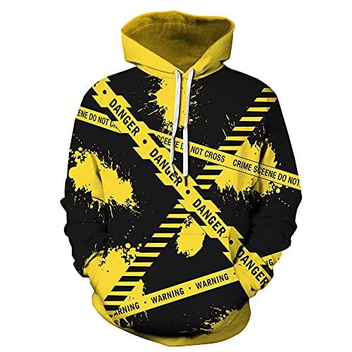 Sudadera con Capucha Hombre Monigote de Nieve 3D Impresión Pullover Manga Larga Hoodie Casual Funny Hooded Sweatshirt con Bolsillo XL