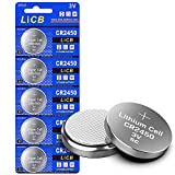 LiCB CR2450 Battery,Long-Lasting & High Capacity CR2450 Lithium Batteries,3 Volt Coin & Button Cell (5-Pack)