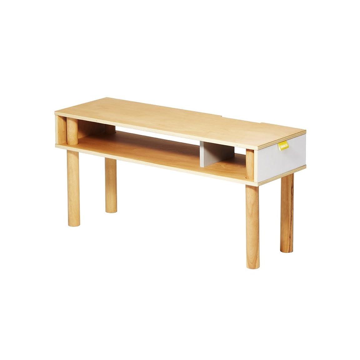 十二アンソロジー船形ideaco (イデアコ) テレビ台 ホワイト 幅79×奥行き26×高さ38cm Plywood Series(プライウッドシリーズ)