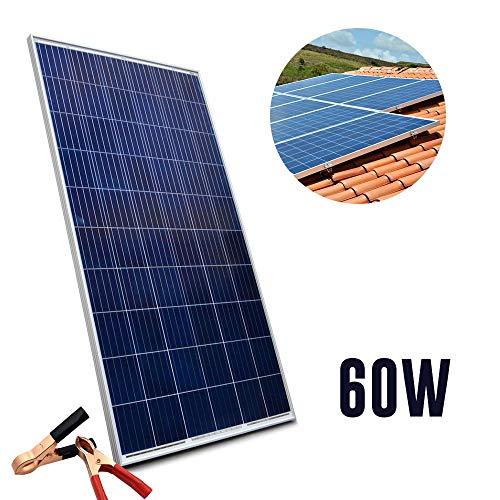 Placa Energia Solar Painel Fotovoltaica Celulas Potencia 60w