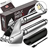 Alpha Grillers Garlic Press. Stainless Steel Mincer & Crusher With Silicone Roller Peeler. Easy...
