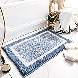 室內 玄關地墊 浴室地墊 浴室墊 擦腳墊 室內地毯 高密度 超細纖維 絨毯 超吸水 防滑 速干 蓬松 可整體清洗 浴室 廚房 (綠色, 50*80)