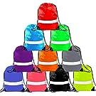 Drawstring Backpack - Drawstring Bag Reflective Cinch Sacks String Backpack Bulk Bsgs