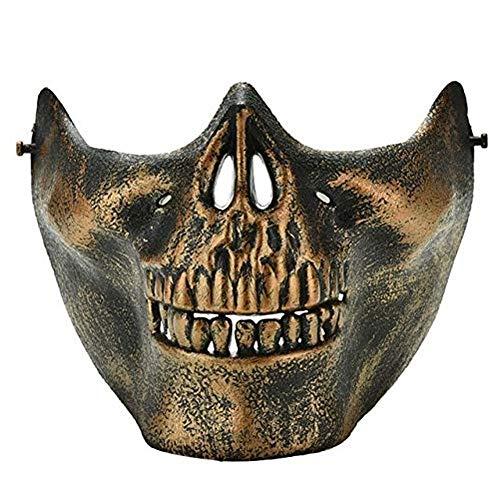 nivgcz Halloween Maske Terror Airsoft Paintball Maske schädel Skelett Maske Outdoor Metall mesh augenschutz kostüm für Halloween Party Supplies e