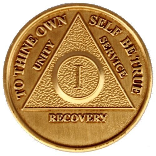 SET OF 5 MEDT AA Recovery Medallions YEARS 1, 2, 3, 4, 5 All 5 Anniversary / Birthday Coins Commemorative