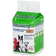 """IRIS USA Neat 'n Dry Premium Pet Training Pads, Regular, 17.5"""" x 23.5"""", 25 Count"""