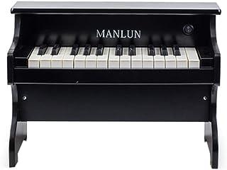( Band)HZDMJ アップライトピアノ ブラック25鍵 61鍵のたて型のミニピアノです 初心者のピアノが気軽に入門練習 セット 5色子供へのプレゼント 。