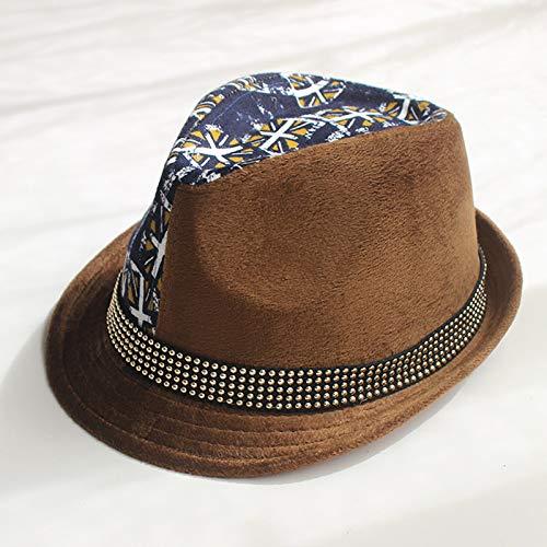 mlpnko Kinder Hüte Cord Jungen Jazz Caps Baby Hüte Hüte Mode Hut Flagge Kaffee M57cm