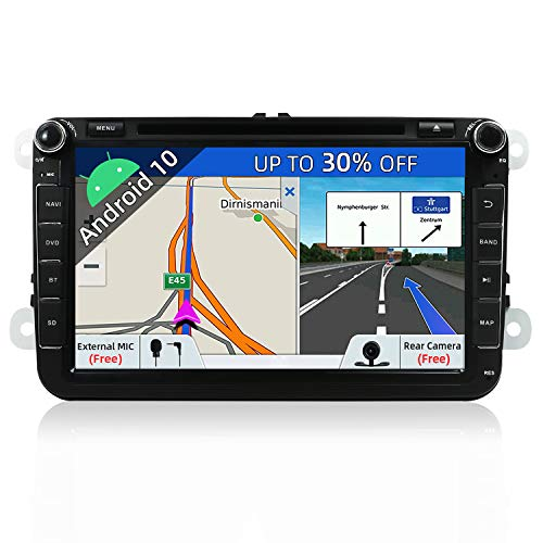 JOYX Android 10 Autoradio Passt für VW Passat/Golf/Skoda/Seat - GPS 2 Din - Rückfahrkamera Canbus KOSTENLOS - 2G+32G - 8 Zoll - Unterstützen DAB+ Lenkradsteuerung 4G WiFi Bluetooth Mirrorlink Carplay
