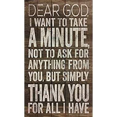 Dear God, Thank You for All I Have 24 x 14 Wood Pallet Wall Art Sign Plaque