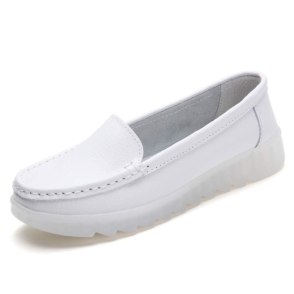 ZYEN Women's All White Nursing Shoes