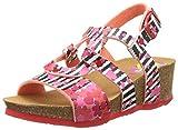 Desigual Wedge Bi, Heels Sandals para Niñas, Rosa (Pink 3200), 33 EU