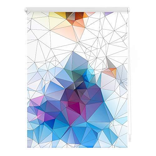 Lichtblick KRT.100.150.351 Rollo Klemmfix, ohne Bohren, Blickdicht, Grafik - Bunt 100 x 150 cm (B x L)