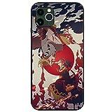 鬼滅の刃iPhoneケース,鬼殺隊かっこいいキメツノヤイバプリント強化ガラス防護保護カiphoneX Xs XR アイフォンケース