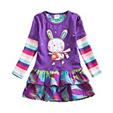 VIKITA Robes Enfant Fille Floral Broderie Coton Princesse Casual 1-8 Ans Q91102 7T
