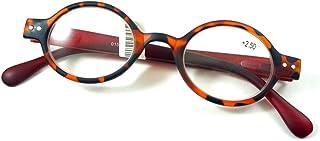 Inlefen Fashion Round Reading glasses Full Frame Spring hinge Unisex Eyeglasses +1.00 To +4.00