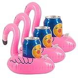 Vpsan Flamingo Aufblasbarer Getränkehalter Flaschenhalter luftmatratze Wasser Poolbar Rettungsring Für Planschbecken Kinder Partydekoration,3stk
