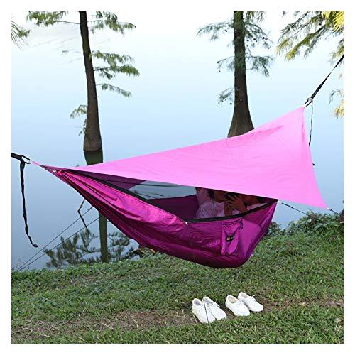 WFS Hamaca de viaje Hamacas Swing Bed Individual Doble Hamaca de Camping Fácil Montaje Portátil para Jardín Patio Exterior Suministros de Camping (Color: D)