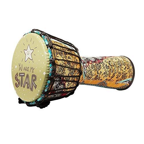 Feixunfan Djembe Drum 8,5 Inch Tuned Gratis Lichtgewicht Djembes Afrikaanse Bongo Trommel Met Tas Voor Kinderen Beginner 3-12 Jaar Oud voor Alle Leeftijden