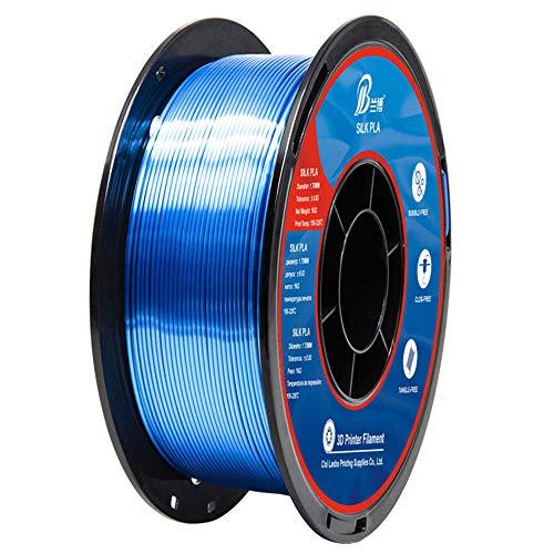 Seiden-PLA-Filament 1 kg, 3D-Druckerfilament 1,75 mm, für 3D-Drucker, besserer Glanz-Blau
