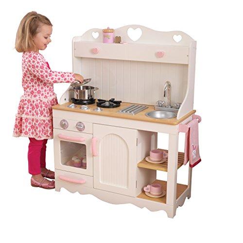 KidKraft 53151 Prairie Prärie-Spielküche aus Holz in Weiß Landhaus Kinderküche - 2