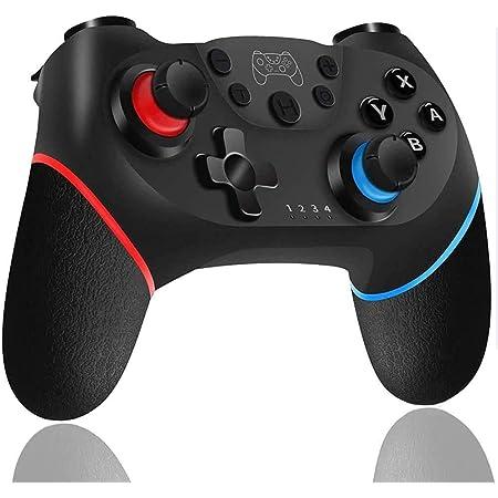 WonDa Controller Switch, Switch PRO Controller Bluetooth, Switch Gamepad Joystick con Turbo Regolabile Dual Motor Vibration Supporta Sensor 6 Gyro Axis