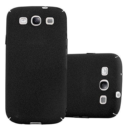 Cadorabo Custodia per Samsung Galaxy S3 / S3 NEO in FROSTY NERO - Rigida Cover Protettiva Sottile con Bordo Protezione - Back Hard Case Ultra Slim Bumper Antiurto Guscio Plastica