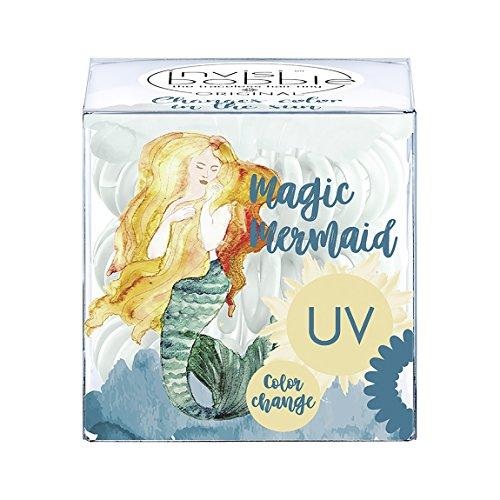 invisibobble ORIGINAL Magic Mermaid Ocean Tango, haarschonendes Spiralhaargummi, 1 Packung