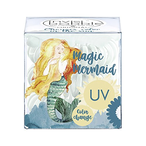 invisibobble ORIGINAL Magic Mermaid Ocean Tango, haarschonendes Spiralhaargummi, 1 Packung