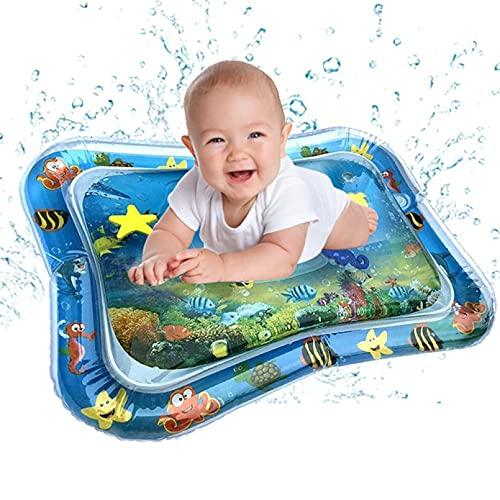 ANLKUJHF Alfombrilla inflable para bebé con agua, para niños, niñas, fortalece los músculos de tu bebé