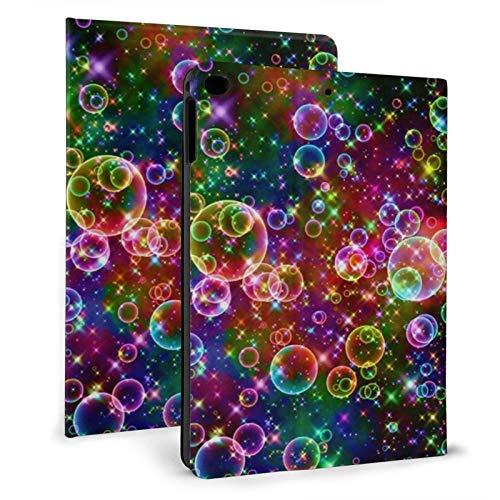 Funda para iPad Mini4/5 de 7.9 pulgadas, funda para iPad Air 1/2 de 9.7 pulgadas, con visión multiángulo, ligera y delgada, con función de encendido y apagado automático, (burbujas de colores)