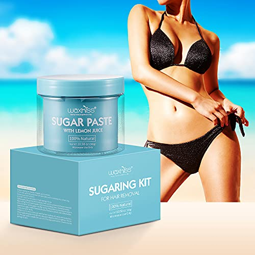 Waxkiss Sugar Wax ,100% Natural Hair Remover Soft Sugar Paste For All Skin Types with Lemon Juice