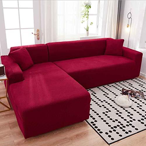 ZHICHENG 1/2/3/4 plazas sofá Cubierta Decoración del hogar Estiramiento Sofá Protector Durable Lavable a Prueba de Polvo Suave Funda de sofá Sofá seccional de L sofá Forma