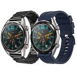 Supore Cinturino Compatibile con Huawei Watch GT2 46mm/Watch GT Active/Watch 2 PRO/Honor Watch Magic/Galaxy Watch 46mm/Gear S3/Gear 2, Cinturino di Ricambio in Acciaio Inossidabile da 22 mm