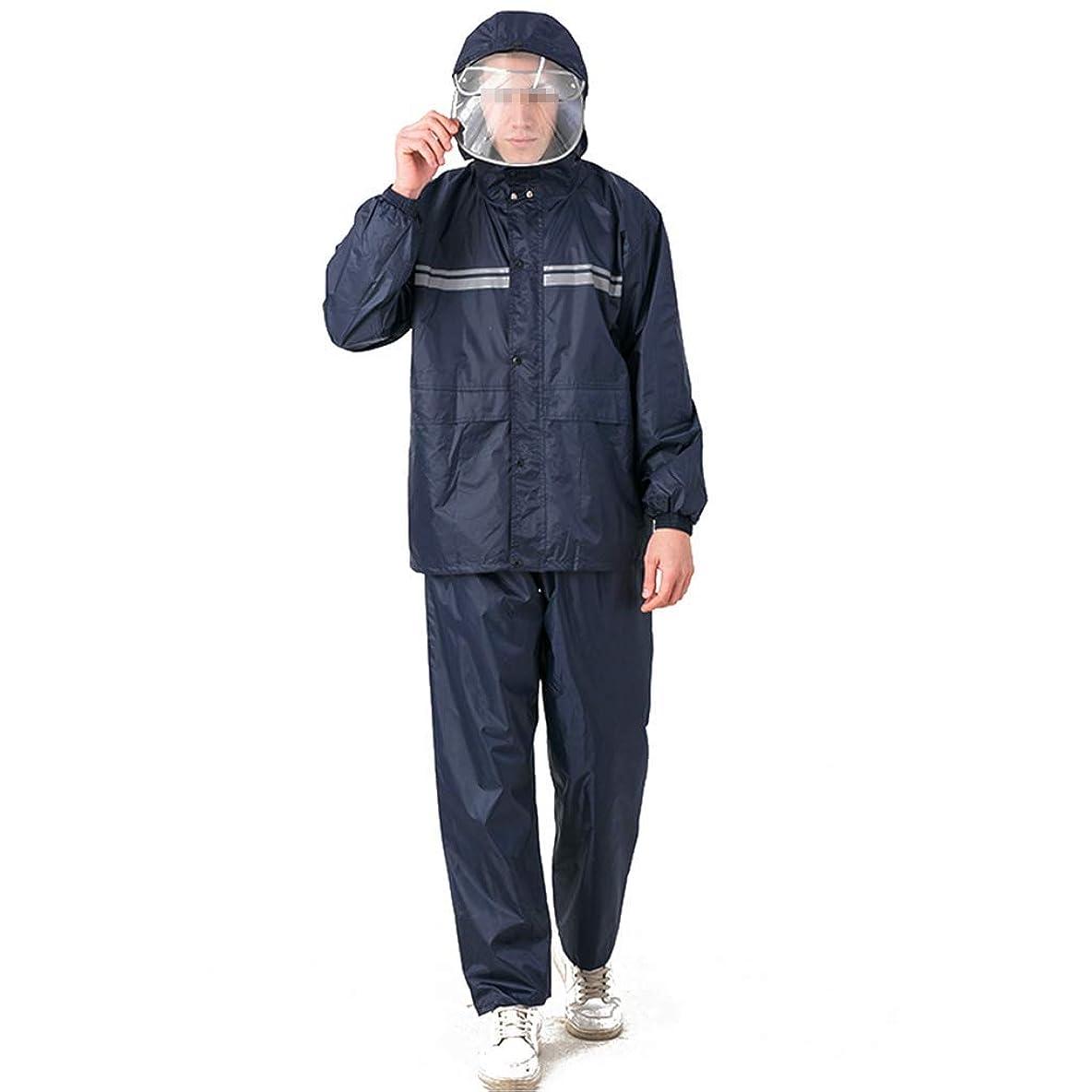 第二朝原理TD レインコートレインコート大人の防水ジャケットセットHdをダブルキャップボディ防水快適な通気性 ポンチョ ハイキング (Size : XXXL)
