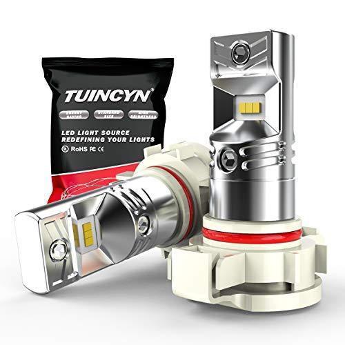 TUINCYN 1600Lm Extrêmement Lumineux H16 5202 Ampoules LED Antibrouillard Remplacement 6500K Blanc Puces CSP 80W Haute Puissance