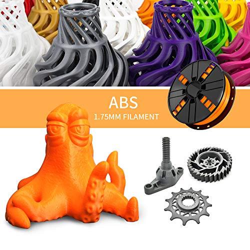Orange ABS Filament 1.75mm, NovaMaker Less Odor ABS 3D Printer Filament, Dimensional Accuracy +/- 0.03 mm, 1kg Spool(2.2lbs)