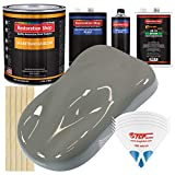Restoration Shop - Dove Gray Urethane Basecoat with Clearcoat Auto Paint - Complete Medium Gallon Paint Kit - Professional High Gloss Automotive, Car, Truck Refinish Coating