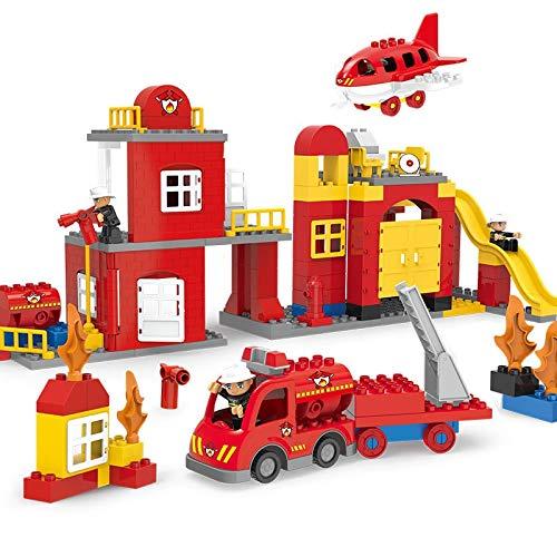 N/A DIY Puzzle Building Blocks-het-vuren Rescue Team Plastic Montage Bouwstenen for kinderen