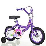 JH Bici del Bebé, Alto Contenido De Carbono De Bicicletas Marco De Acero, Pedal Estudiante De Escuela Primaria Princesa Bici (12/14/16/18 Pulgadas) Boy Y Bicicleta De Niña (3-8 Años),Púrpura,16inches