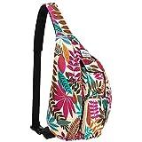 KAMO Chest Sling Shoulder Backpacks - Fashion Cute Crossbody Rope Bag for Hiking or Multipurpose Daypacks for Man Women Lady Girl Teens