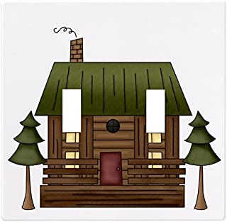 Log Cabin Wallplate Decorative Light Switch Plate Cover (2 Gang - Double Toggle)