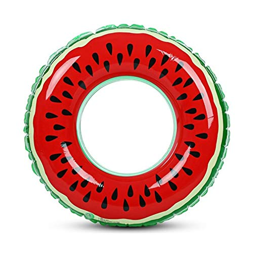 YLWL Wassermelone aufblasbare Erwachsene Kinder Schwimmring aufblasbarer Pool Float Circle für Erwachsene Kinder (grün & Rot 70CM)