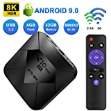 XGODY Android TV Box,4GB+32GB X10 MAX Android 9.0 Smart Media Box mit S905X3