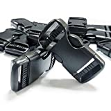 REKYO 12 PCS 1 Pulgada Plástico Cierre Rápido Lado Hebilla, Negro Mochila Cierre De Hebillas para Paracord/Bolsa/Correa De Cincha De Cinturón De 1 Pulgada 25mm