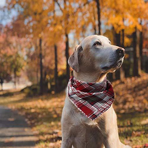 Nice Dream Bandanas para Perro, Paquete de 4 Baberos Triangulares Lavables Reversibles, Accesorios para Perros y Gatos pequeños, medianos y Grandes(Patrón 1)