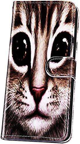 JAWSEU Funda Libro Compatible con Samsung Galaxy A20/A30, Carcasa Suave PU Cuero Flip Billetera Tapa Cartera Case Cierre Magnético Soporte Plegable Ranura para Tarjetas Protectora Cubierta,Gato-1